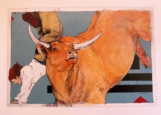 """""""Bull Dancing""""  , Individual Card"""