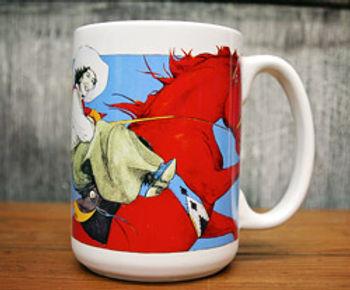 """Red Horse Rider"", Mug"