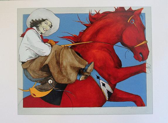 """Red Horse Rider"", Individual Card"