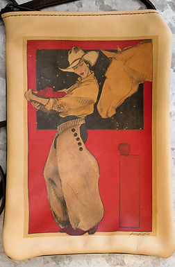 """Purse, """"Apples for the Yellow Mare"""" (Vertical)"""