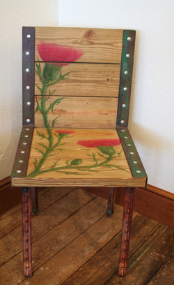 """SOLD """"Thistle"""" Repurposed Chair"""