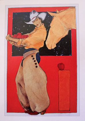 """""""Apples for the Yellow Mare """" , Individual Card"""