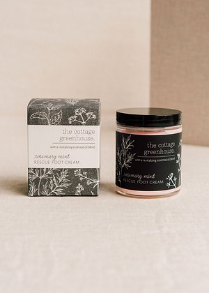 The Cottage Greenhouse Rescue Foot Cream, Rosemary Mint