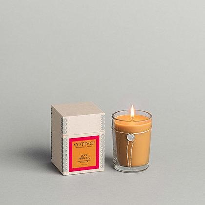 Votivo Aromatic Candle Pink Mimosa
