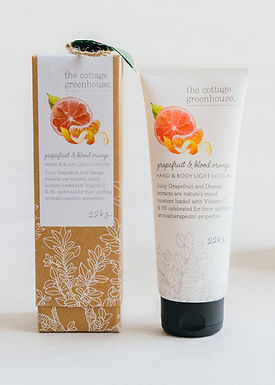 The Cottage Greenhouse Grapefruit and Blood Orange Lotion