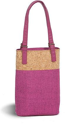 Oak & Olive Double Insulated Wine Bag Fuschia