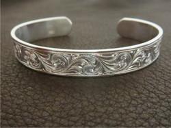 Bright Cut Sterling Bracelet
