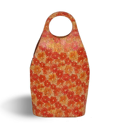 Oak & Olive Soleil Double Wine Tote Floral Cork