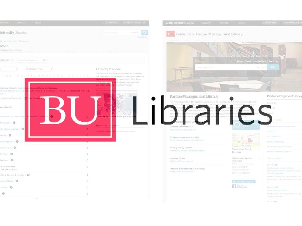 UX Research Internship at Boston University Libraries