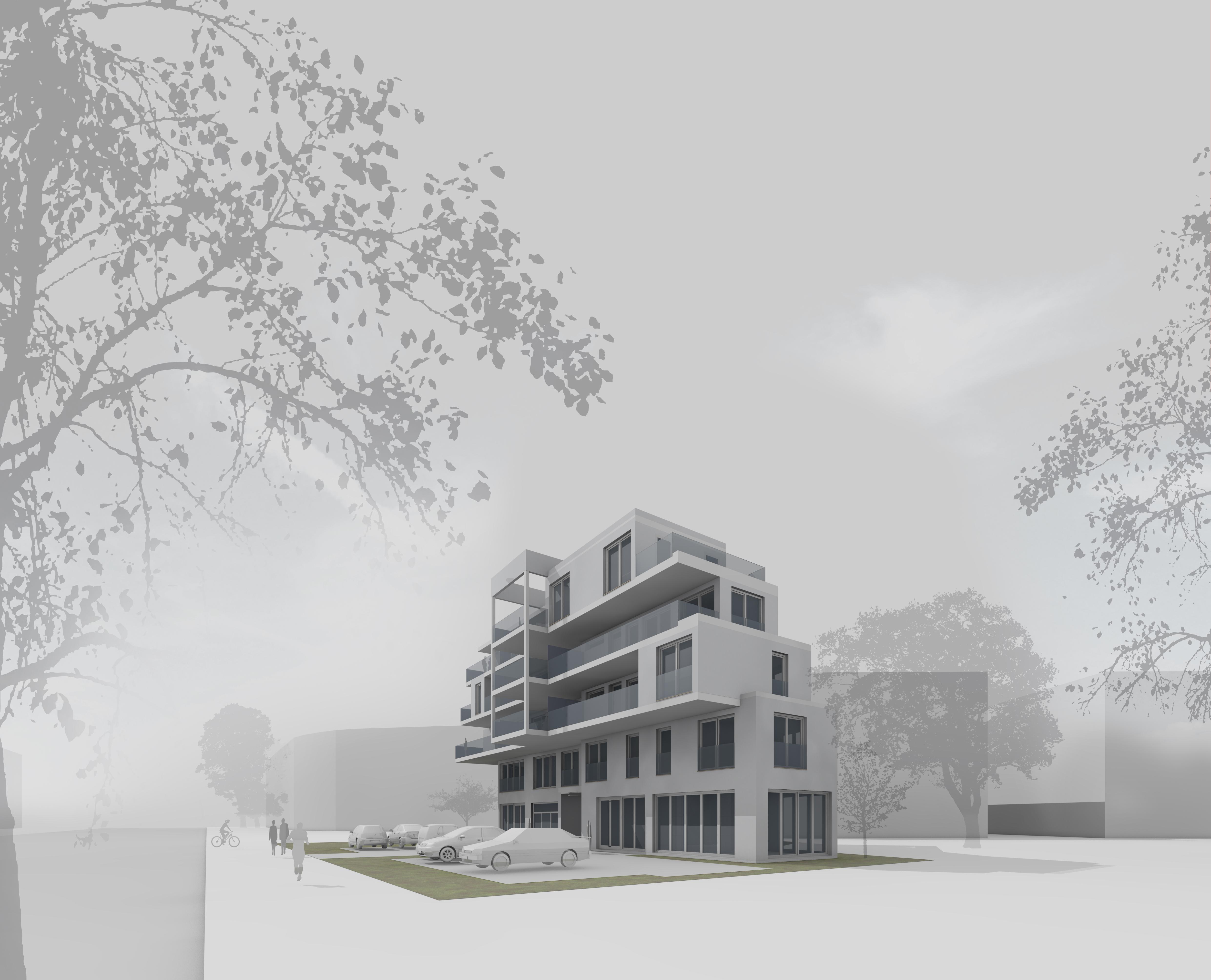 Mehrfamilienhaus mit Laubengang