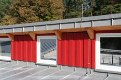 Detail der Holzfassade