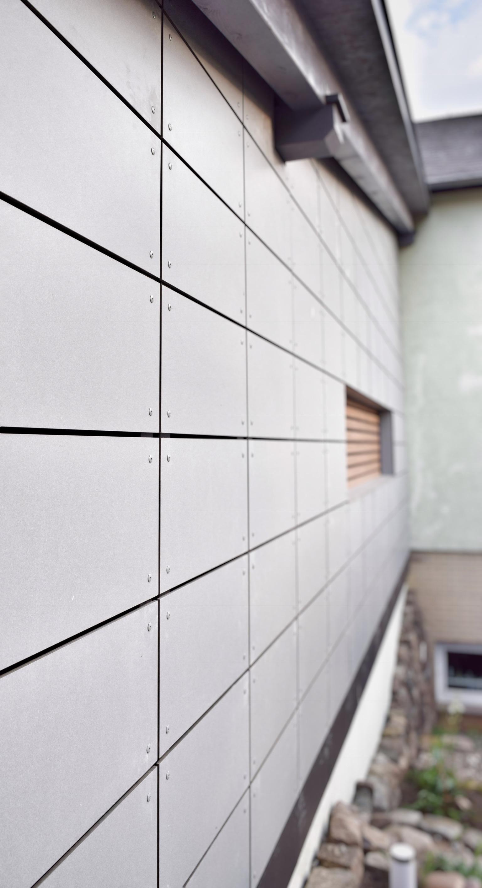 Detail Ethernitfassade