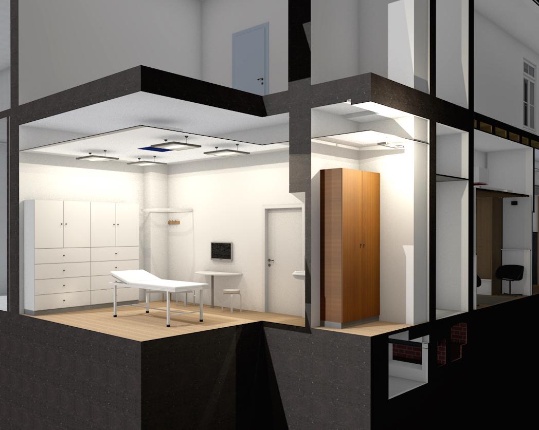 3D Schnitt Innenraum