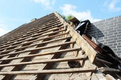 Abriss Dachkonstruktion