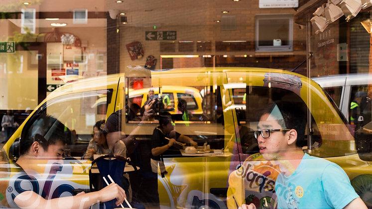 Chinatown Restaurant Reflection