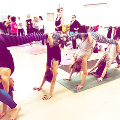 Acro Yoga Fun at the Kids-and Family Yoga Teacher Training in London