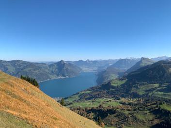 Ausblick auf dem Weg zum Buochserhorn