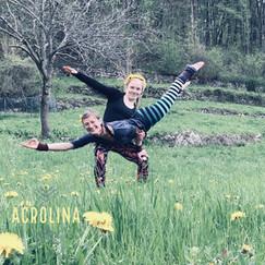 Acrolina in the flower fields of Bergamo