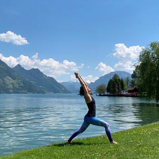 Yoga & Paddeln, Kanuwelt Buochs