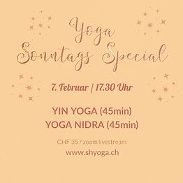Yoga Sonntags Special