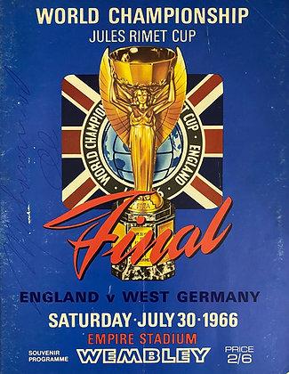 Muhammad Ali Signed England World Cup Final 1966 Program