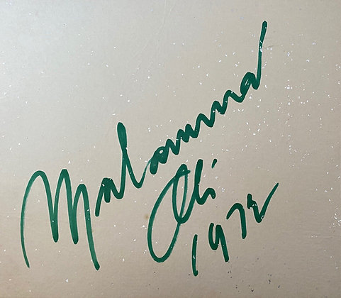Muhammad Ali Large Vintage Double Sided Signed Board