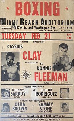 Cassius Clay Vs Donnie Fleeman Onsite Poster