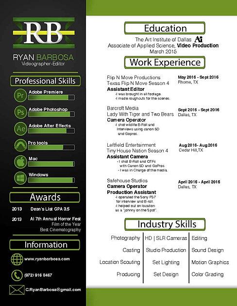 download pdf - Videographer Resume
