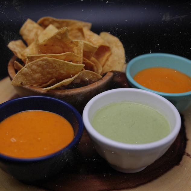 Totopos & Salsa (vegetarian)  14.50