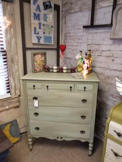 Pale Green Drybrushed Dresser