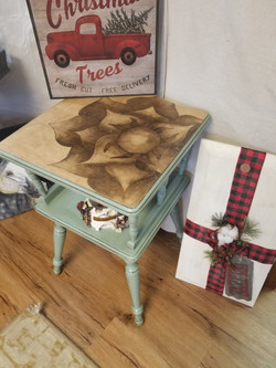 Stained Floral Table