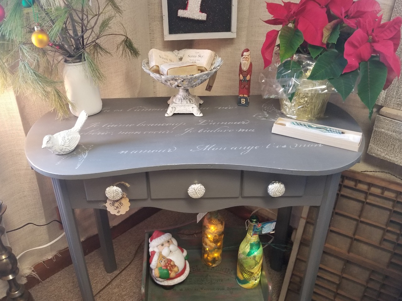 Grey/Silver writing Desk