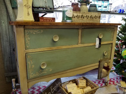 Small Green and Creme Dresser