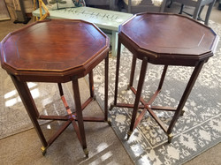 Matching octagon end tables