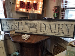 Fresh Dairy Sign