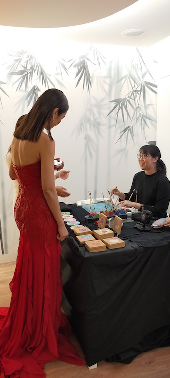 Clarins Marbling Booth Singapore