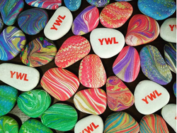 Marbled Pebbles with Logo