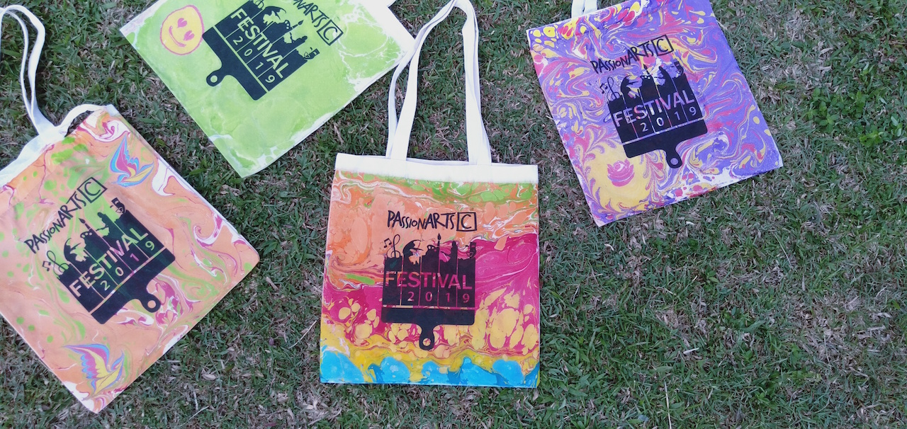 Passionarts Marbled Tote Bags