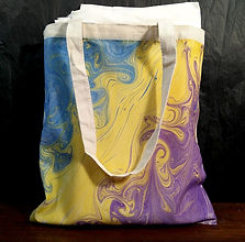 Marbled Canvas Tote Bag