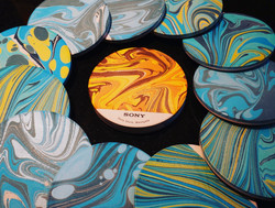 SONY Marbled Coasters