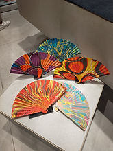 Marbled Chinese Foldable Hand Fans Singapore