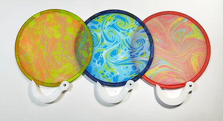 Marbled Foldable Fan Singapore