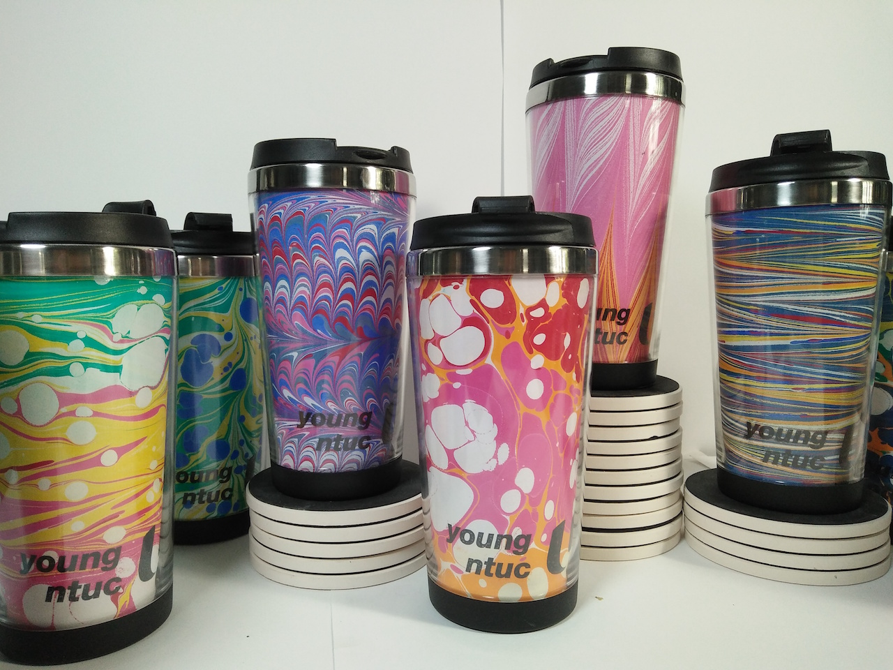 Young NTUC Marbled DIY Tumblers