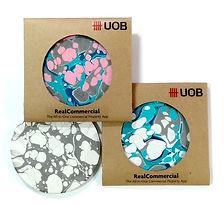 Marbled Ceramic Coasters UOB Singapore