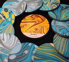 Marbled Ceramic Coasters Singapore