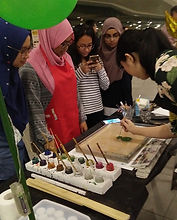 Paper Marbling Demonstration at SMU