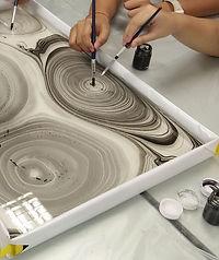 Suminagashi japanese marbling art workshop Singapore Online Zoom