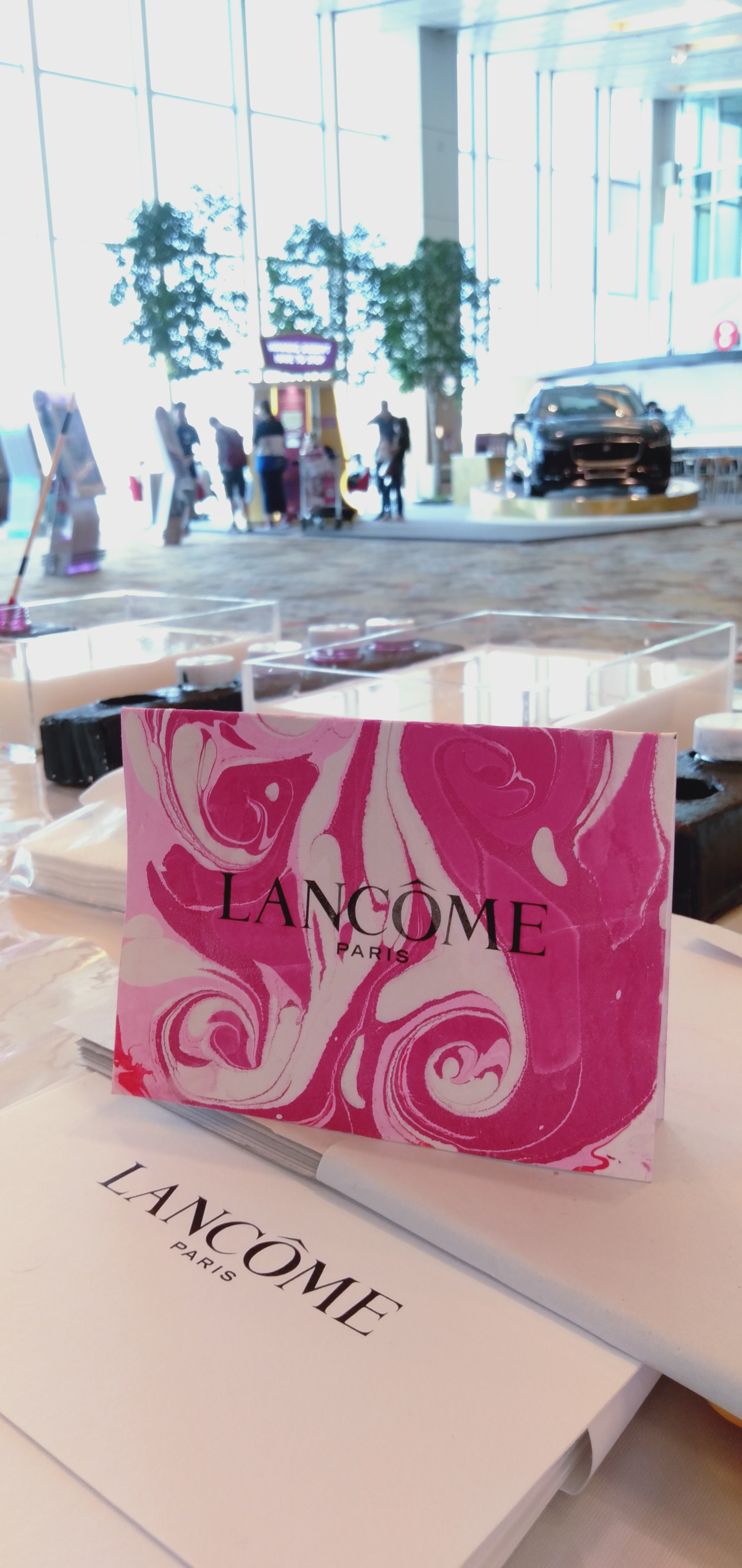Lancome Marbled Paper Cards