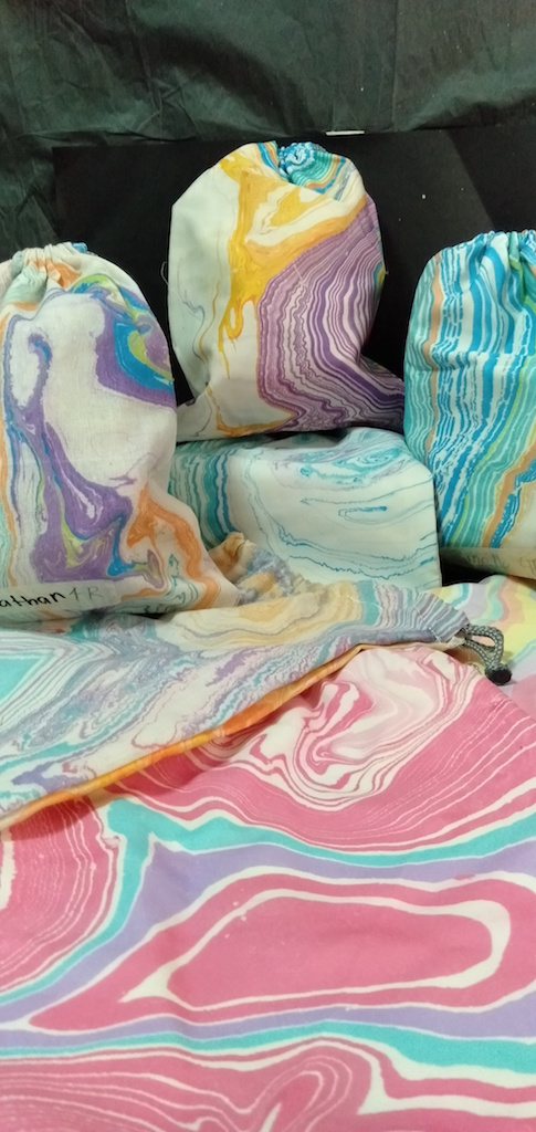 Marbled Drawstring Bags Singapore