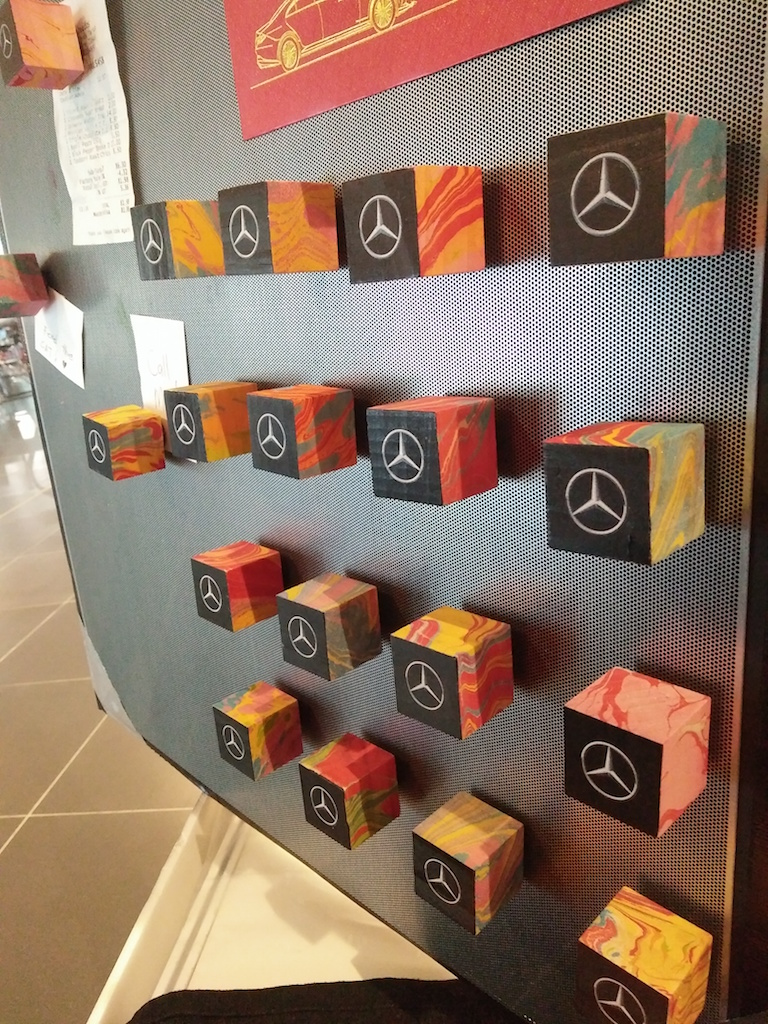 Mercedes Benz Marbled Fridge Magnets